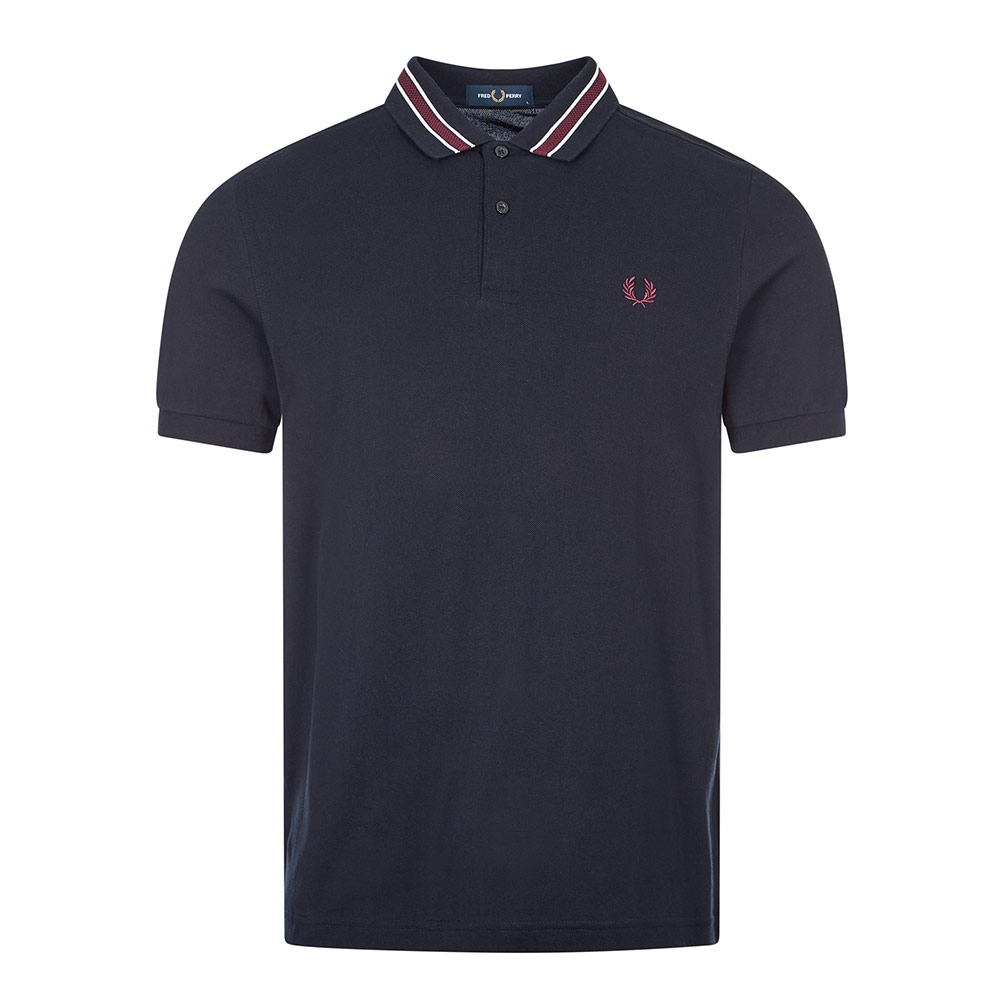 Fred Perry POLO SHIRT TRAMLINE TIPPED - NAVY