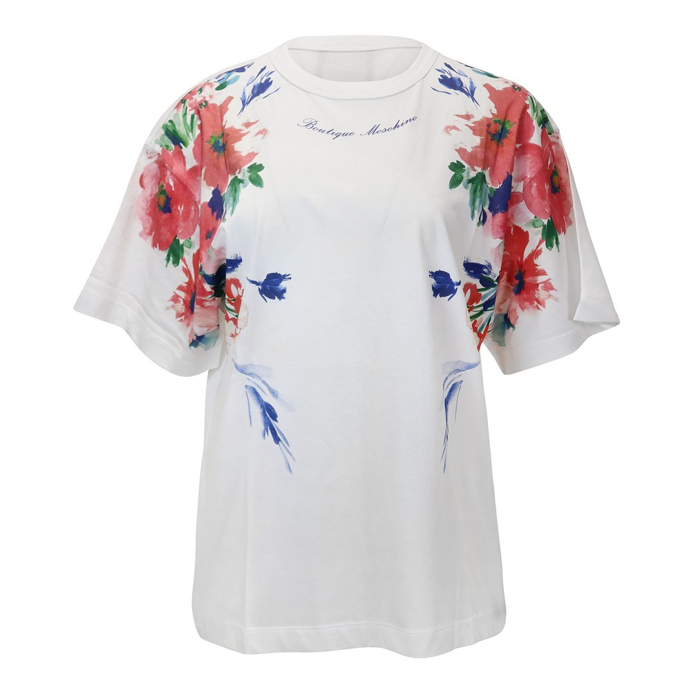 Moschino BOUTIQUE FLORAL PATTERN T-SHIRT