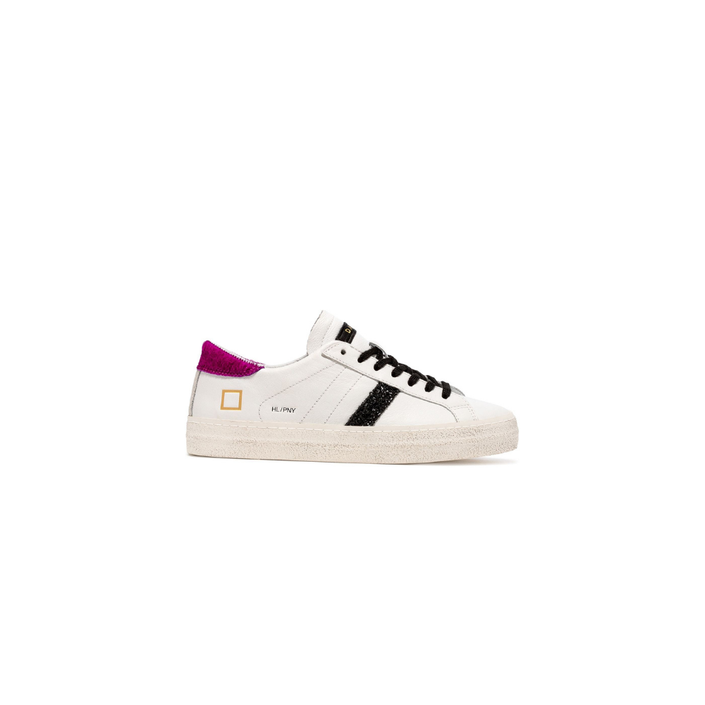 D.a.t.e. DATE SNEAKERS HILL LOW PONY - WHITE FUXIA