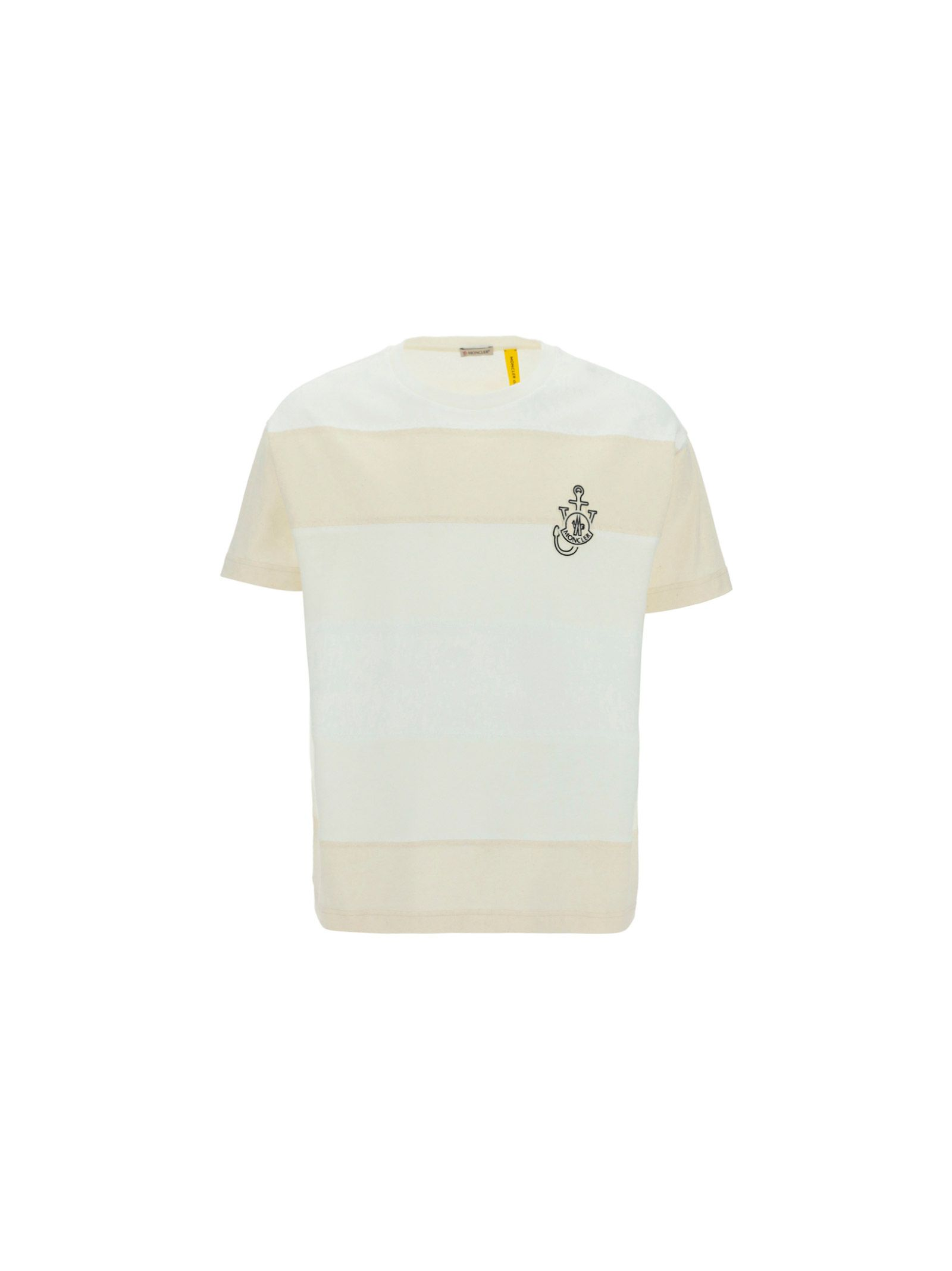 Moncler MONCLER MEN'S 8C00009M1163034 WHITE OTHER MATERIALS T-SHIRT