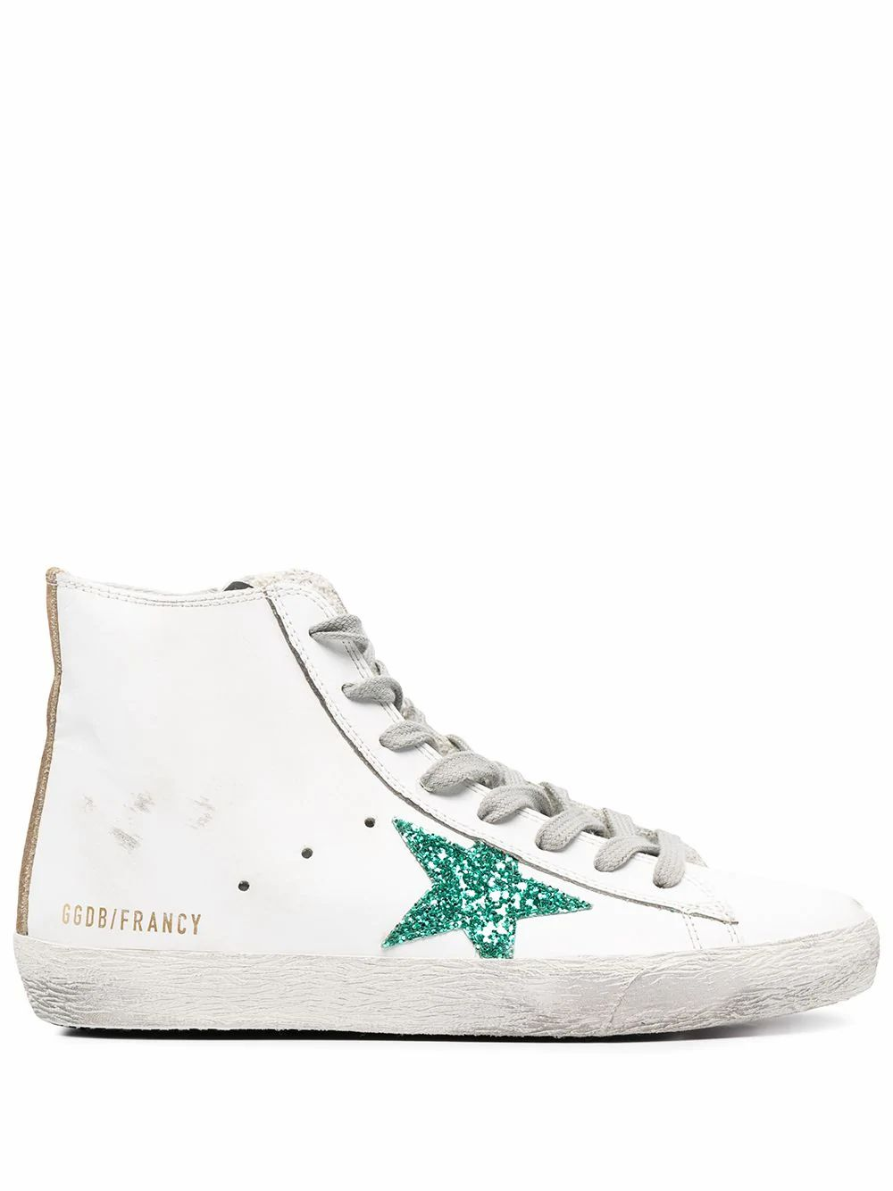 Golden Goose GOLDEN GOOSE WOMEN'S GWF00113F00020610240 WHITE LEATHER HI TOP SNEAKERS