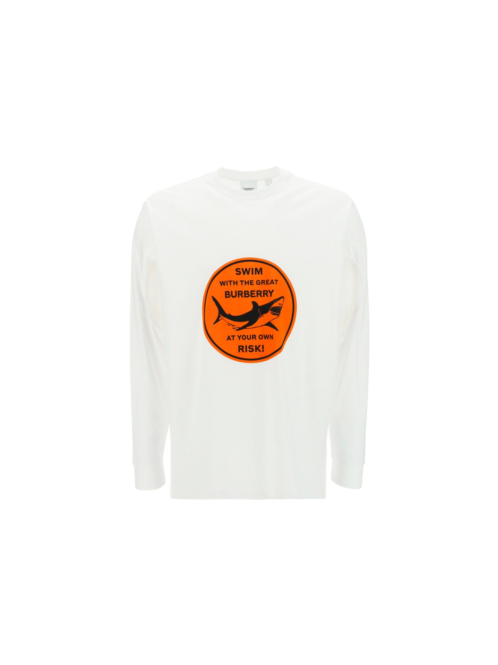Burberry Cottons BURBERRY MEN'S 4567636 WHITE OTHER MATERIALS SWEATSHIRT