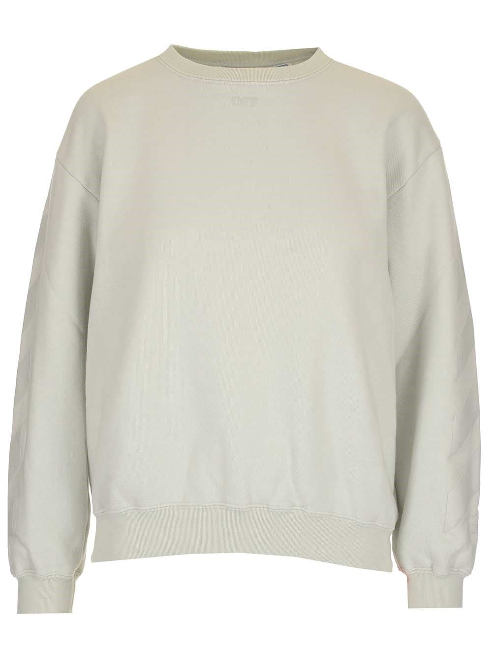 Off-White OFF-WHITE WOMEN'S OWBA046S21JER0020101 WHITE OTHER MATERIALS SWEATSHIRT