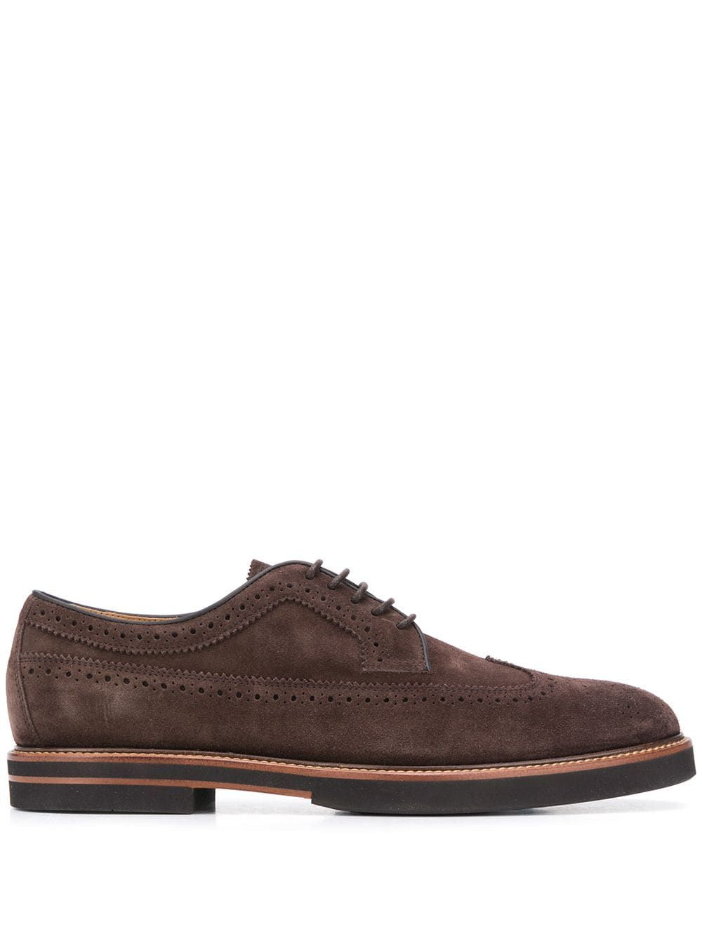 Tod's TOD'S MEN'S XXM53B00C10RE0S800 BROWN SUEDE LACE-UP SHOES