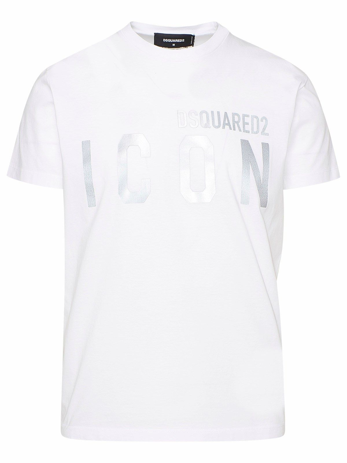 Dsquared2 DSQUARED2 MEN'S S79GC0019S23009988 WHITE COTTON T-SHIRT