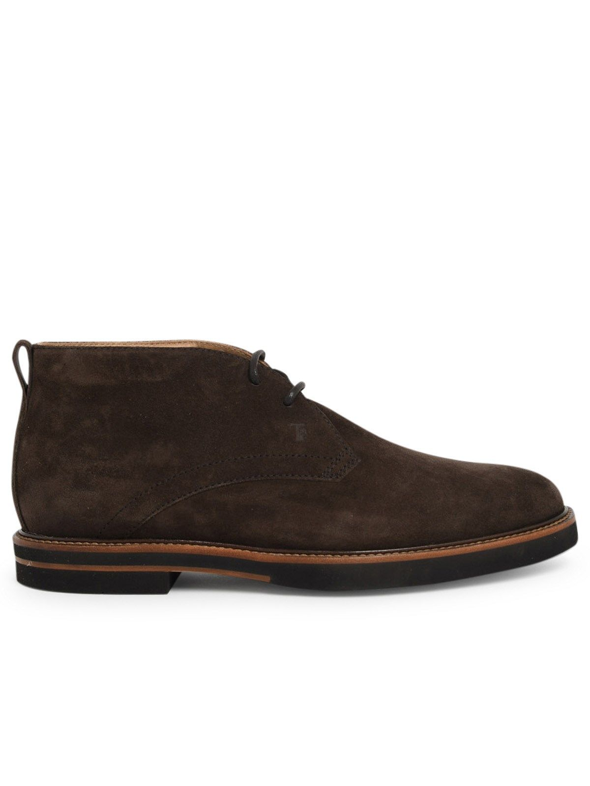 Tod's TOD'S MEN'S XXM53B00D80REOS800 BROWN SUEDE ANKLE BOOTS