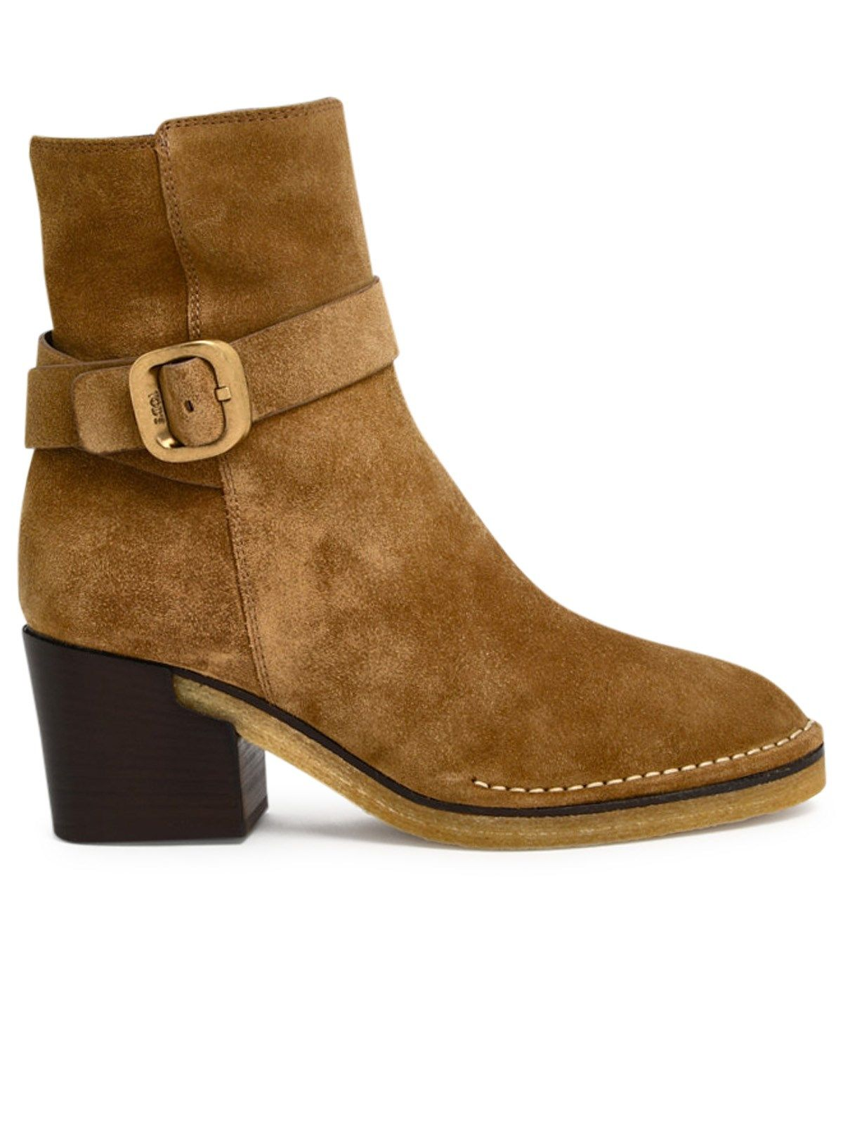 Tod's Suedes TOD'S WOMEN'S XXW78C0DF60RE0S415 BROWN SUEDE ANKLE BOOTS