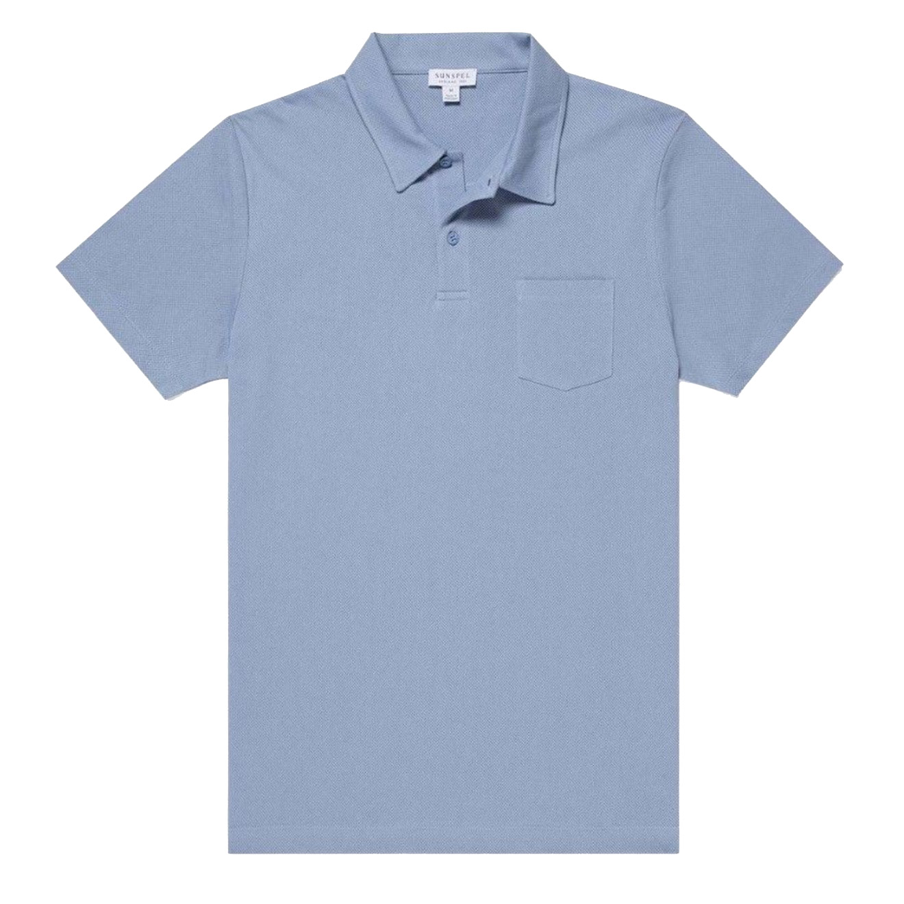 Sunspel RIVIERA S/S POLO WASHED DENIM