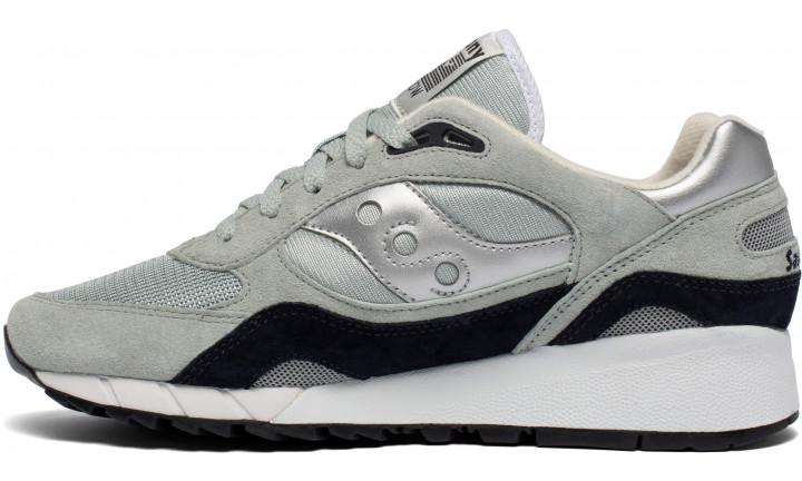 Saucony Suedes SHADOW 6000 TRAINERS - GREY/SILVER