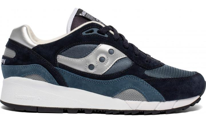Saucony SHADOW 6000 TRAINERS - NAVY/SILVER