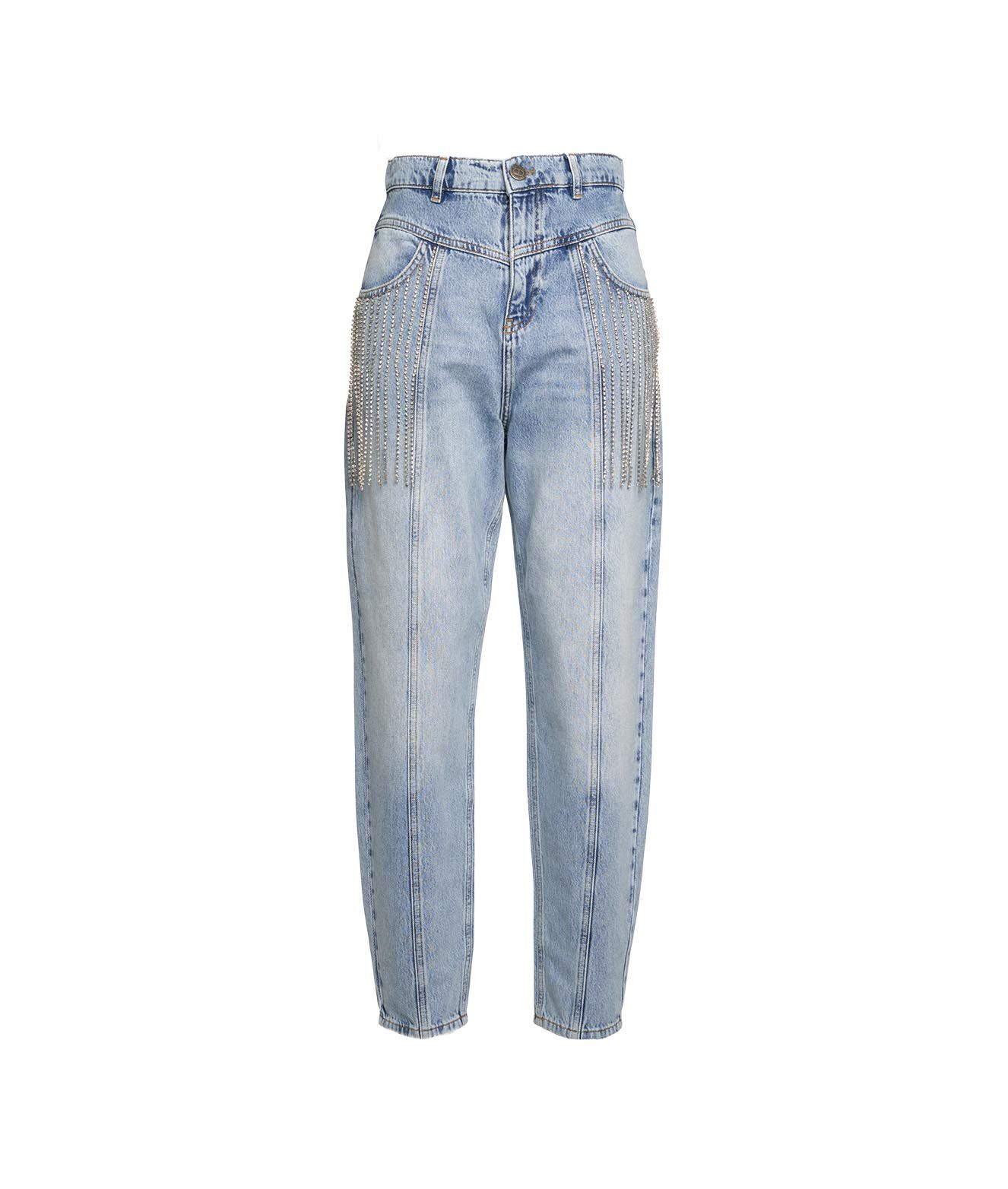 Twinset JEANS WITH RHINESTONE APPLICATIONS