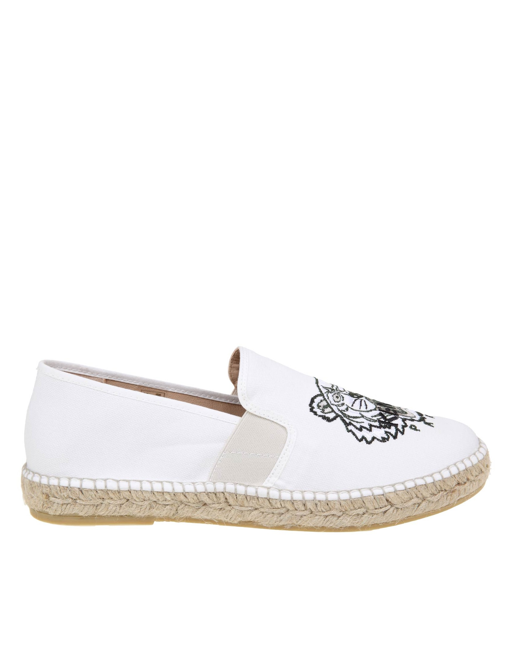 Kenzo ESPADRILLAS TIGER IN WHITE FABRIC