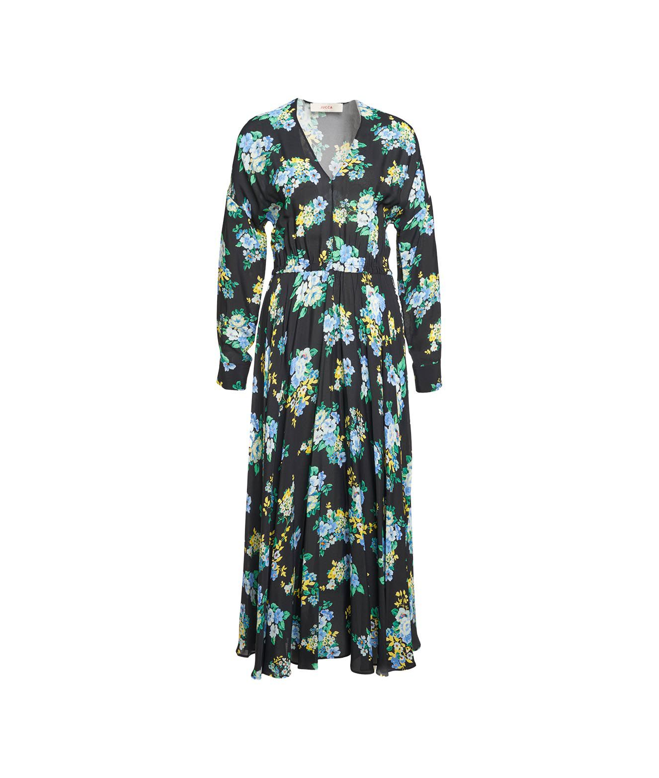 Jucca MIDI DRESS WITH FLORAL PRINT