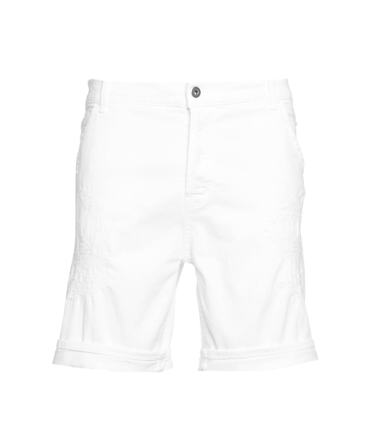 Dondup SHORTS WITH DESTROYED ELEMENTS