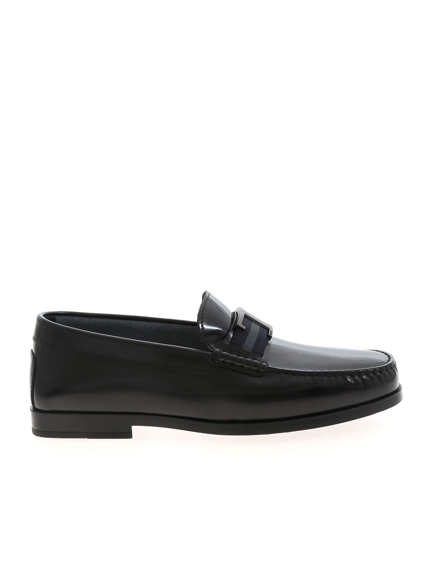 Tod's T LOGO LOAFERS IN BLACK