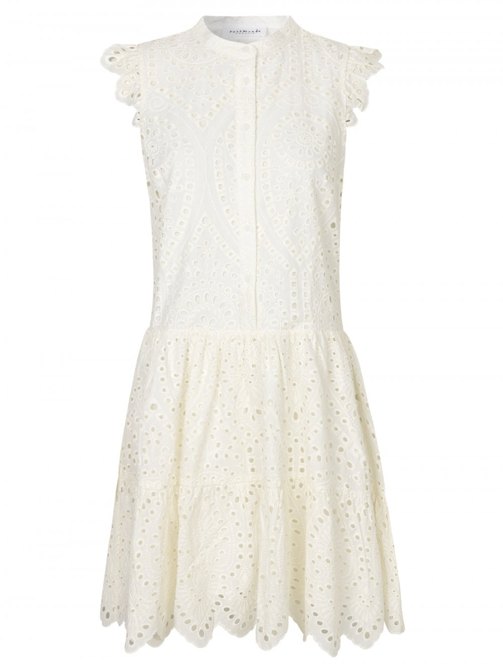 Rosemunde NEW WHITE BRODERIE ANGLAIS DRESS