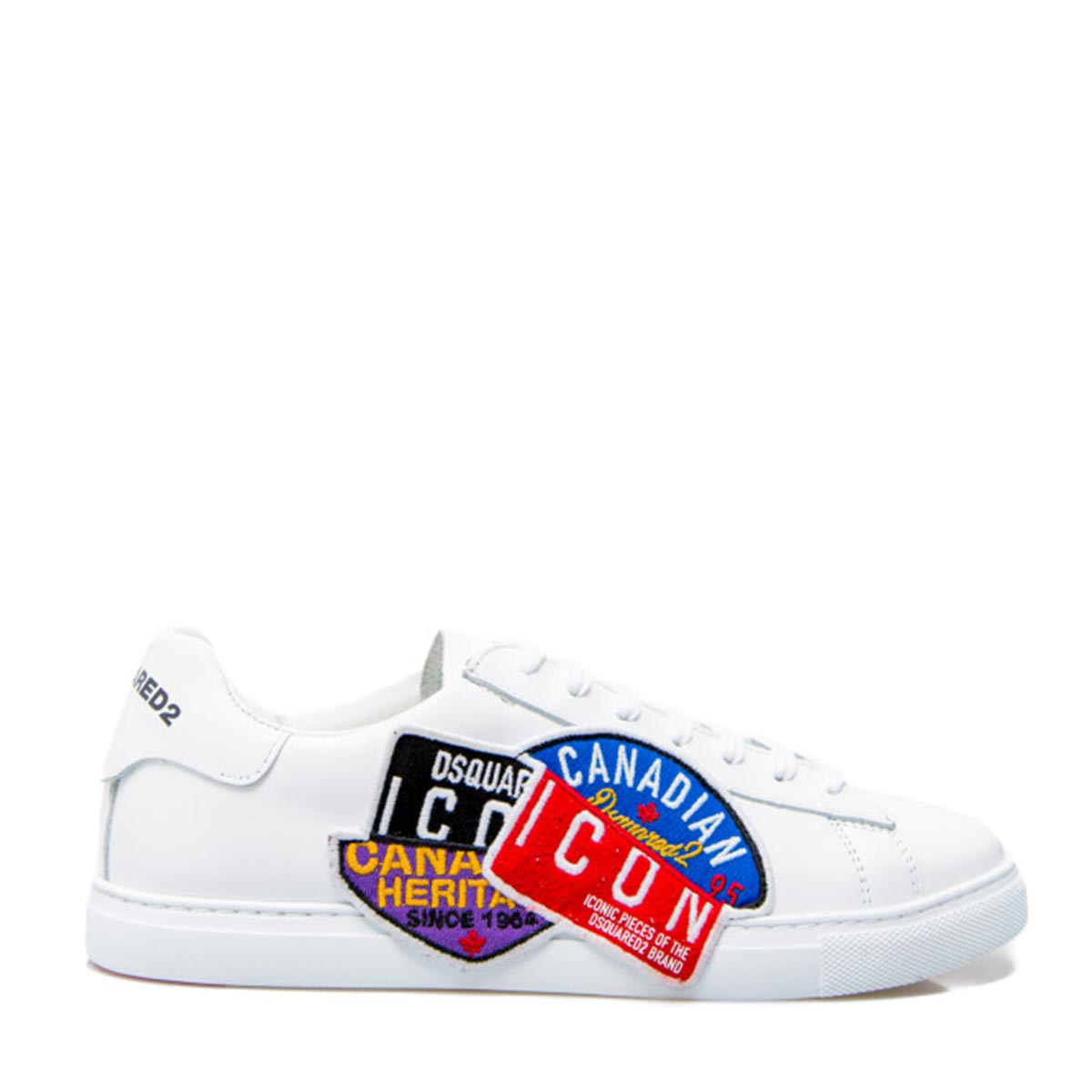 Dsquared2 Leathers ICON SNEAKERS BIANCHE UOMO