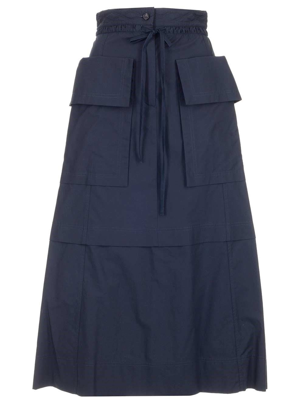 See By Chloé Midi skirts SEE BY CHLO WOMEN'S CHS21UJU010204C4 BLUE OTHER MATERIALS SKIRT