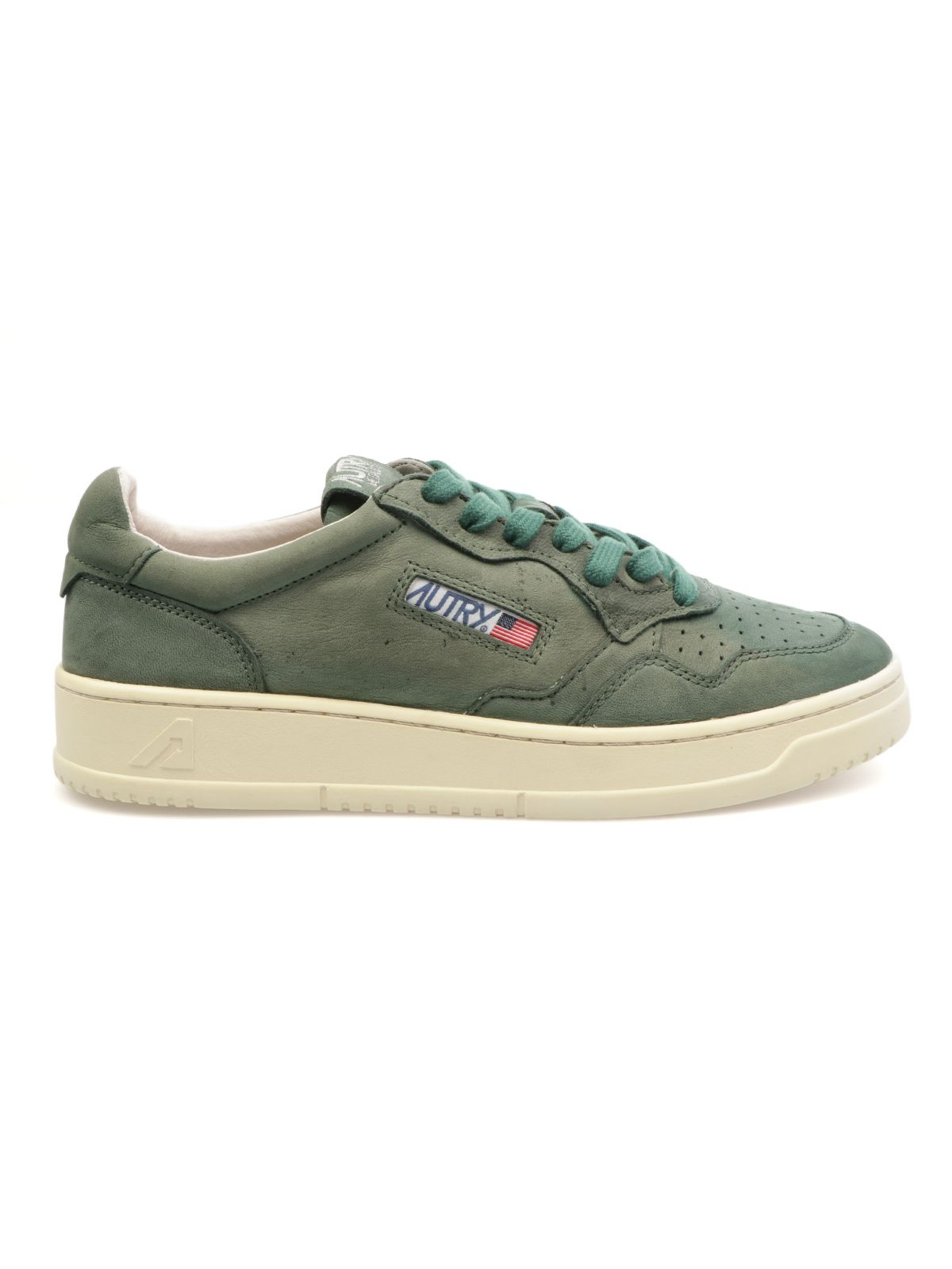 Autry Shoes AUTRY MEN'S AULMNGG21 GREEN SUEDE SNEAKERS