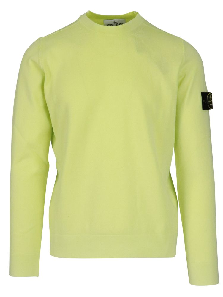Stone Island Sweaters STONE ISLAND MEN'S 7415554D9V0051 GREEN OTHER MATERIALS SWEATER