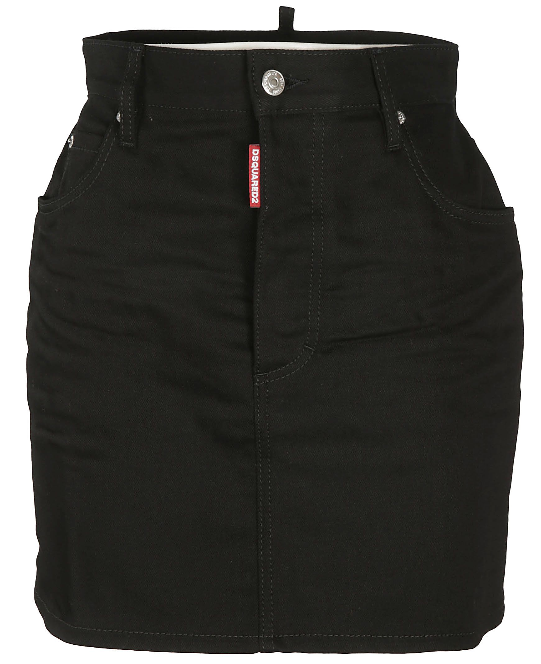 Dsquared2 Cottons DSQUARED2 WOMEN'S S80MA0002S30564900 BLACK OTHER MATERIALS SKIRT