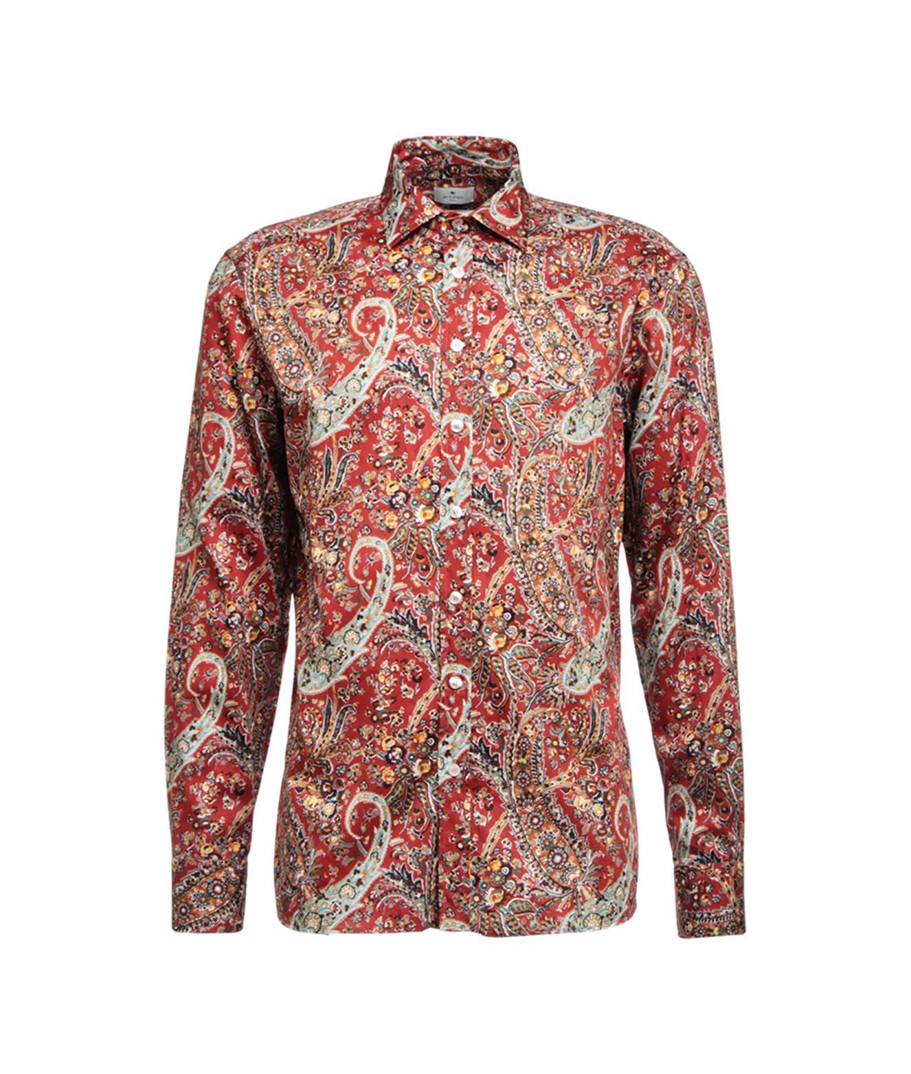 Etro Shirts ETRO MEN'S 16376472111600 RED OTHER MATERIALS SHIRT