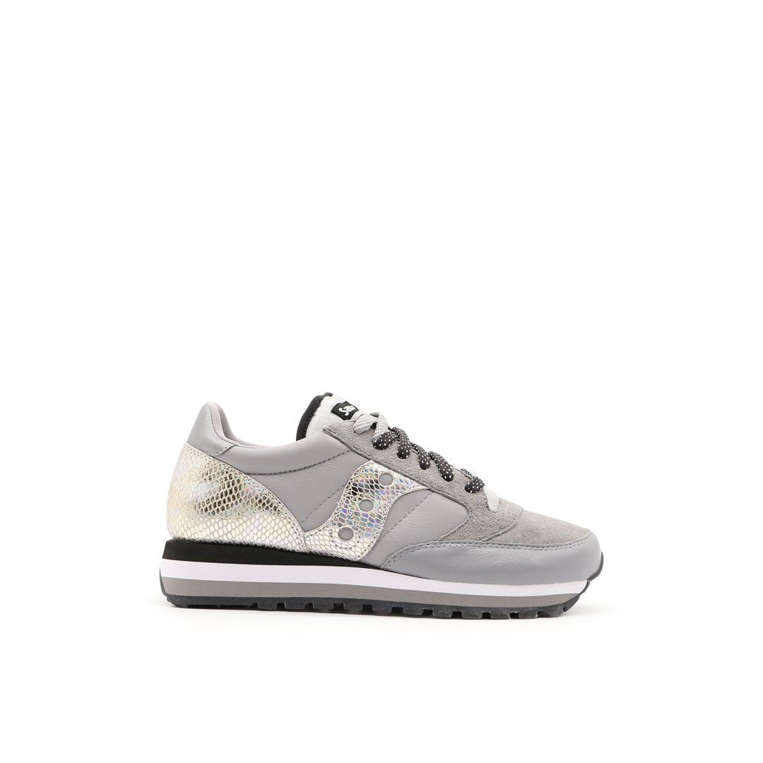 Saucony SAUCONY WOMEN'S 605503 GREY LEATHER SNEAKERS
