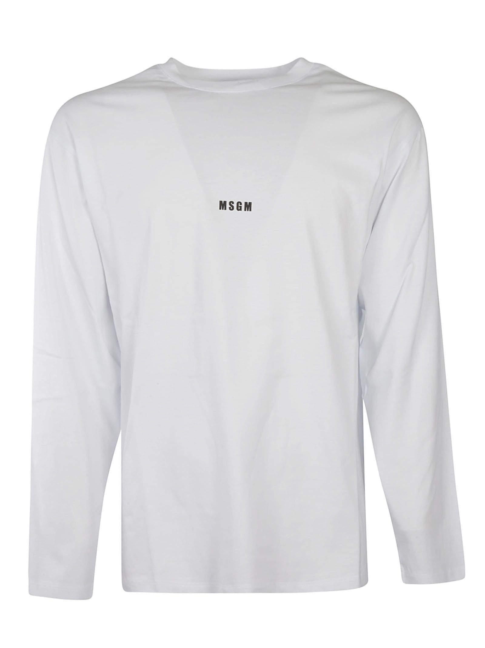 Msgm Cottons MEN'S 3040MM16021709801 WHITE OTHER MATERIALS SWEATSHIRT