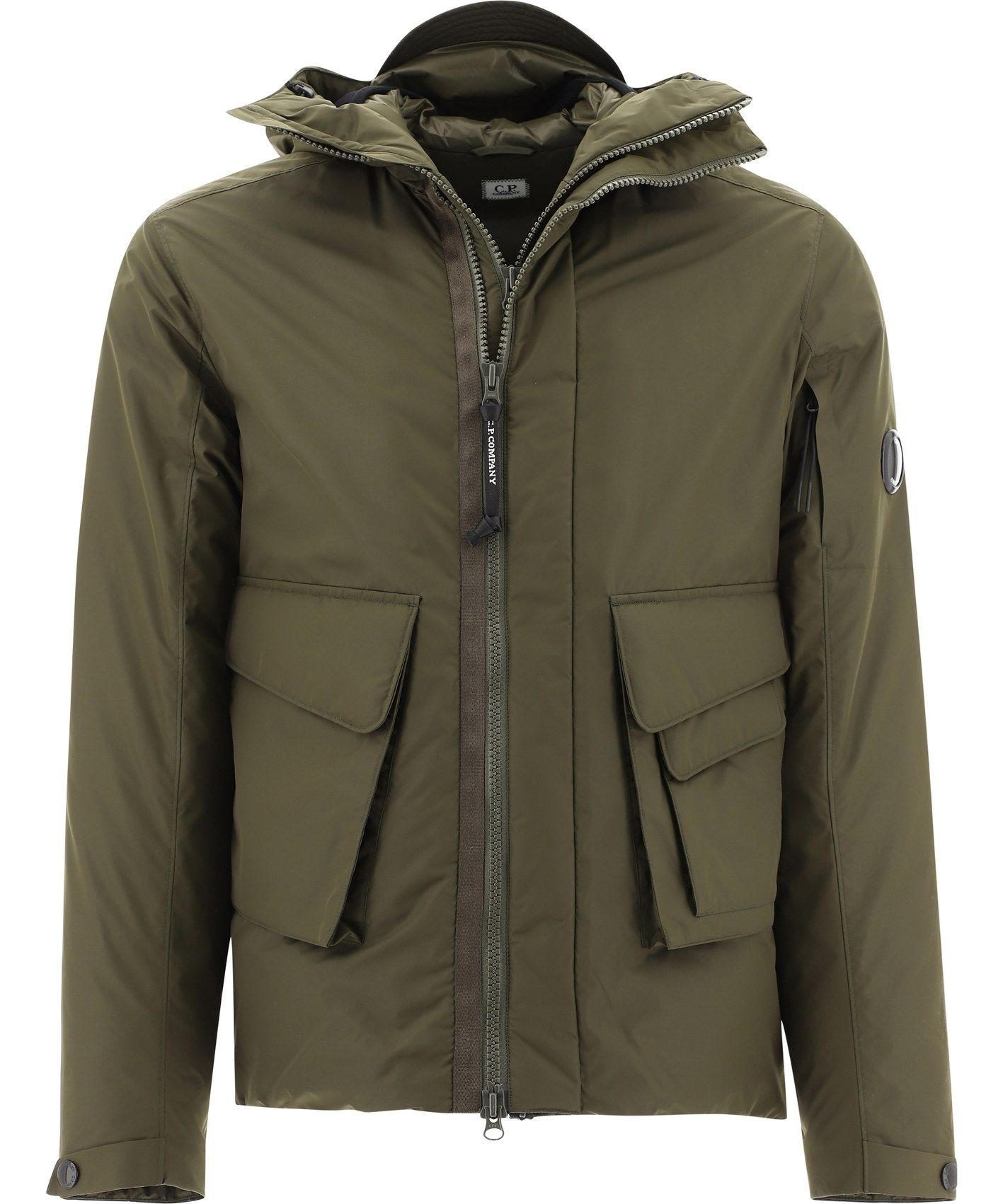 C.p. Company Jackets CP COMPANY MEN'S 09CMOW075A004275A683 GREEN POLYESTER OUTERWEAR JACKET