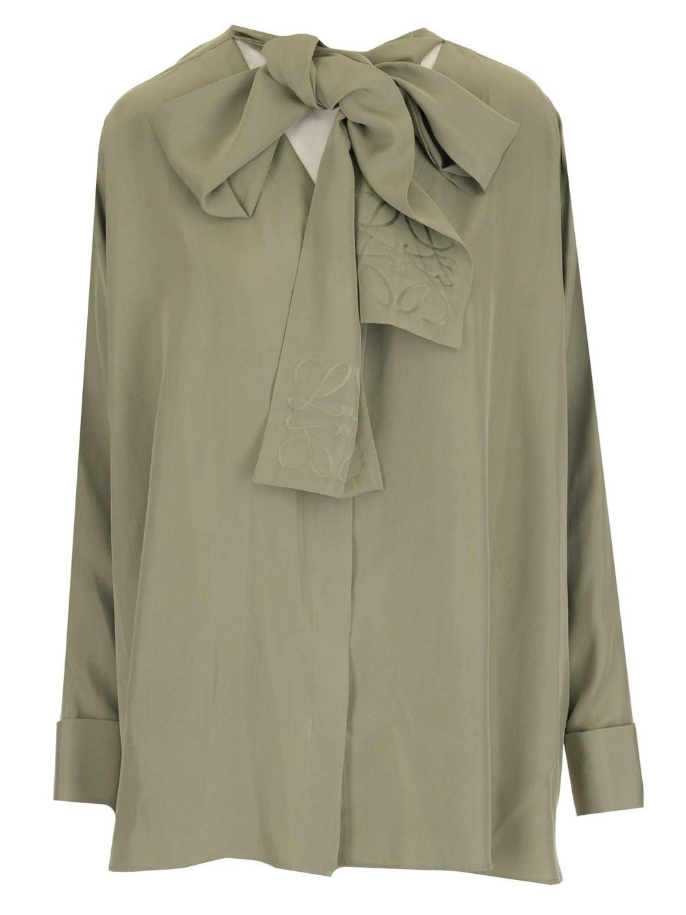 Loewe LOEWE WOMEN'S S359337XCR4380 GREEN OTHER MATERIALS BLOUSE