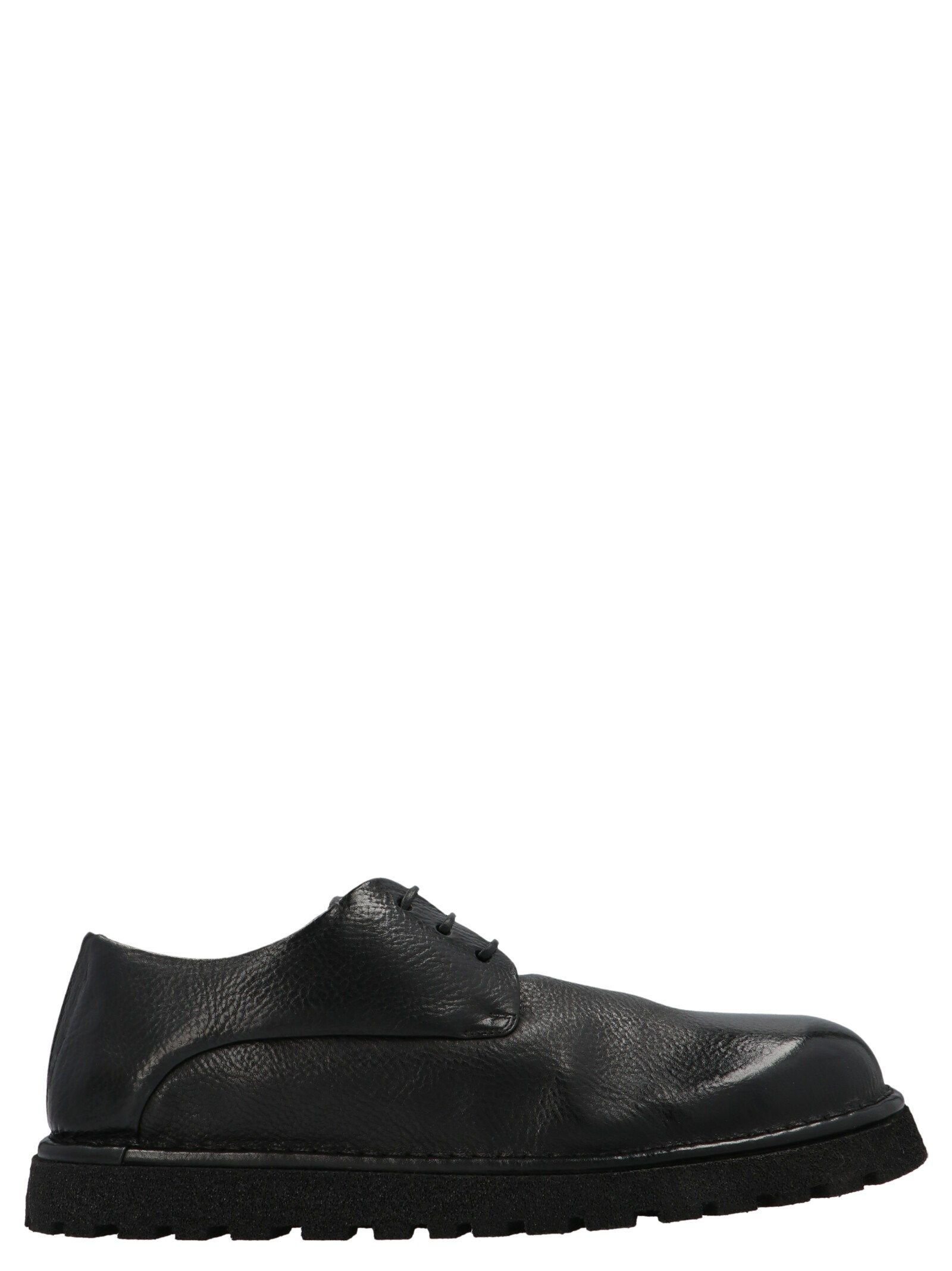 Marsèll MARSELL MEN'S MMG353P666 BLACK OTHER MATERIALS LACE-UP SHOES