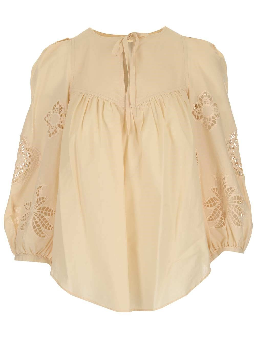 See By Chloé Cottons SEE BY CHLO WOMEN'S CHS21UHT04025293 BEIGE OTHER MATERIALS TOP