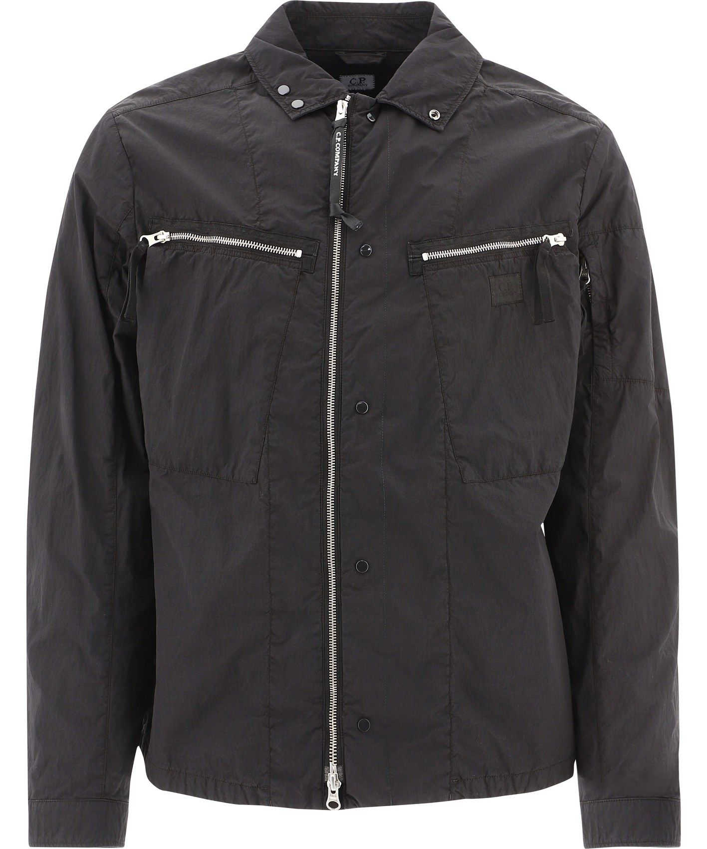 C.p. Company Jackets CP COMPANY MEN'S 09CMOS279A005884G999 BLACK OTHER MATERIALS OUTERWEAR JACKET