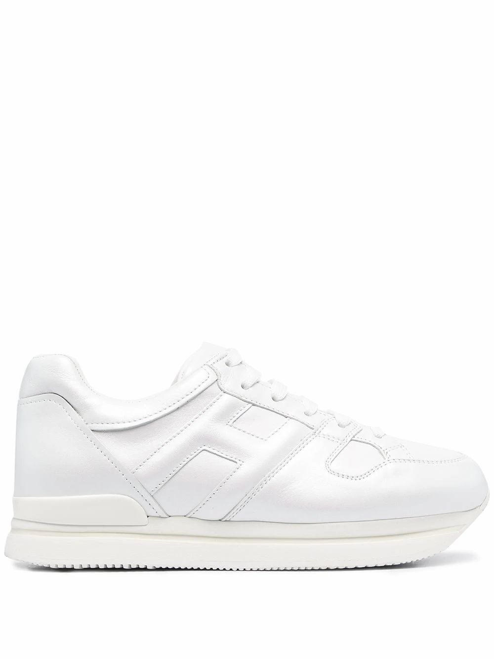 Hogan Leathers HOGAN WOMEN'S HXW2220T548O4KB001 WHITE LEATHER SNEAKERS