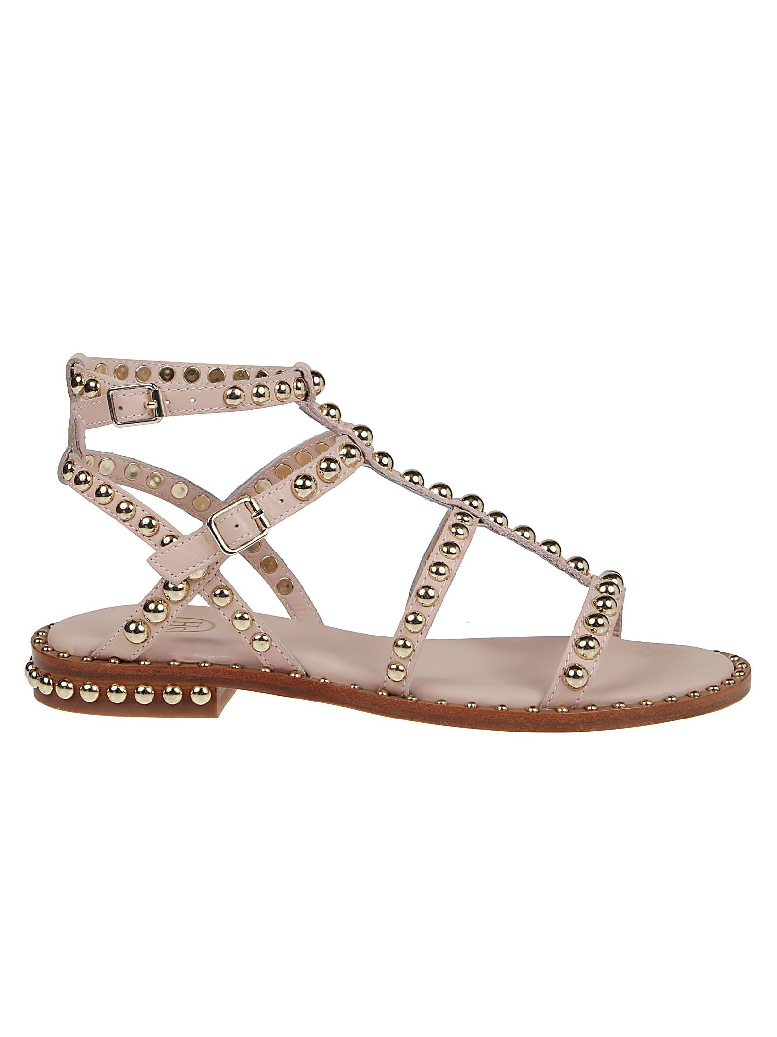 Ash Leathers ASH WOMEN'S PRECIOUS01SOFT PINK OTHER MATERIALS SANDALS