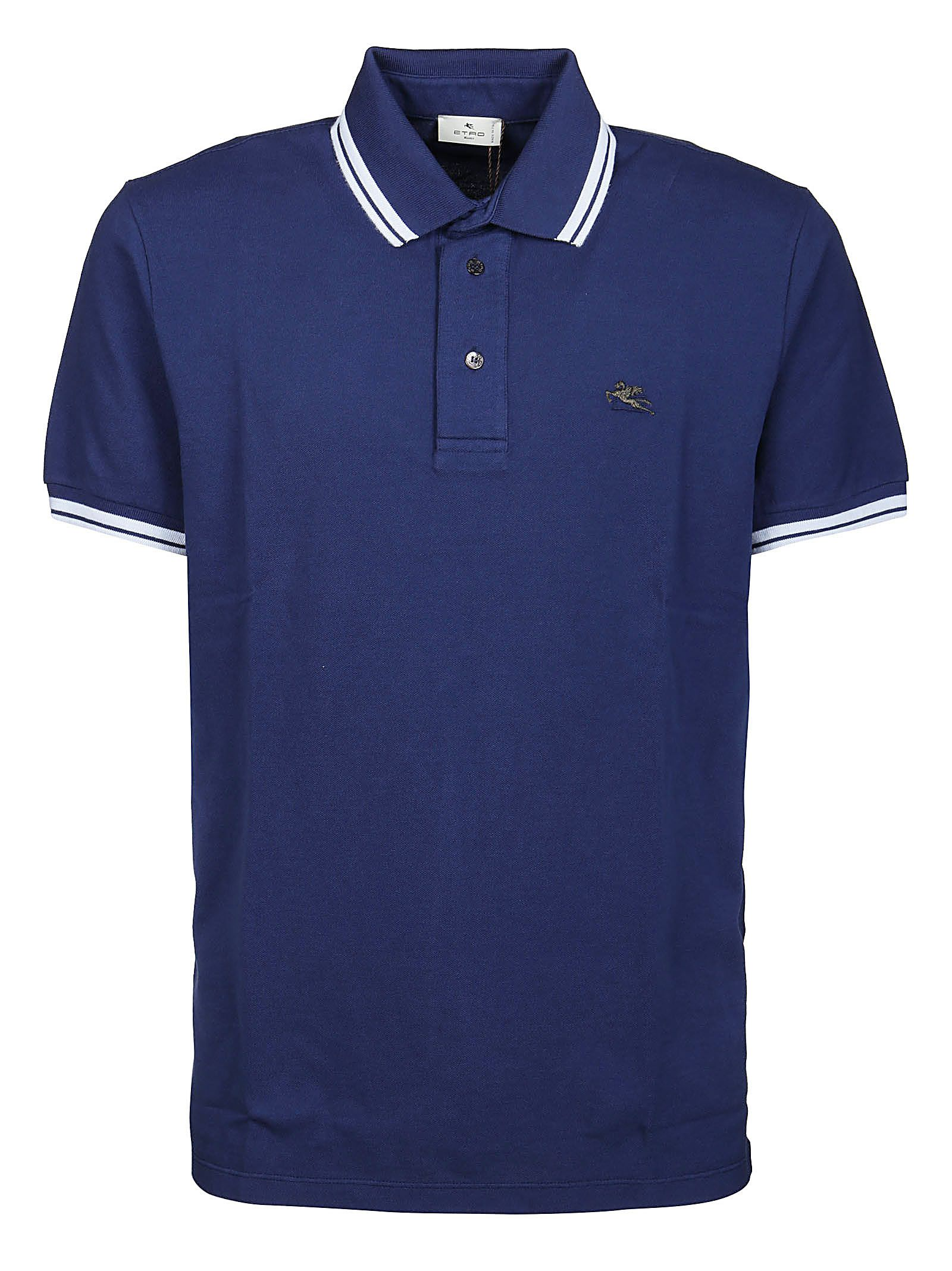 Etro Cottons ETRO MEN'S 1Y80099820200 BLUE OTHER MATERIALS POLO SHIRT