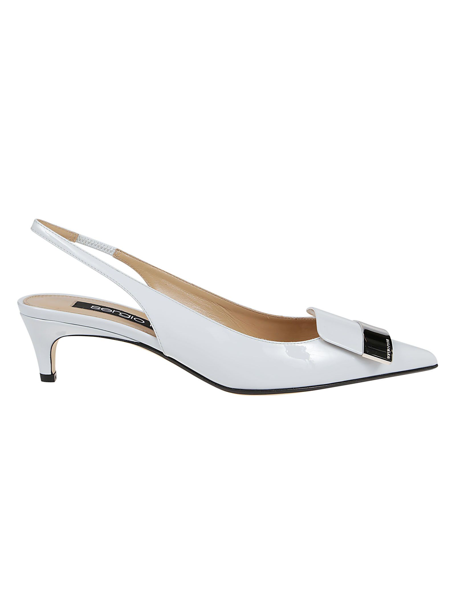 Sergio Rossi Low heels SERGIO ROSSI WOMEN'S A83930MVIV014813 WHITE OTHER MATERIALS SANDALS