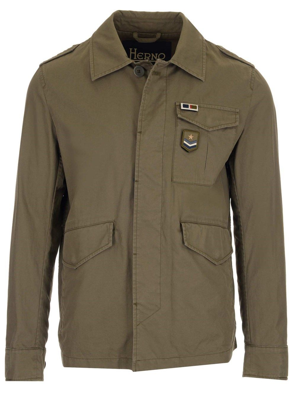 Herno HERNO MEN'S FI0072U132117730 GREEN OTHER MATERIALS OUTERWEAR JACKET