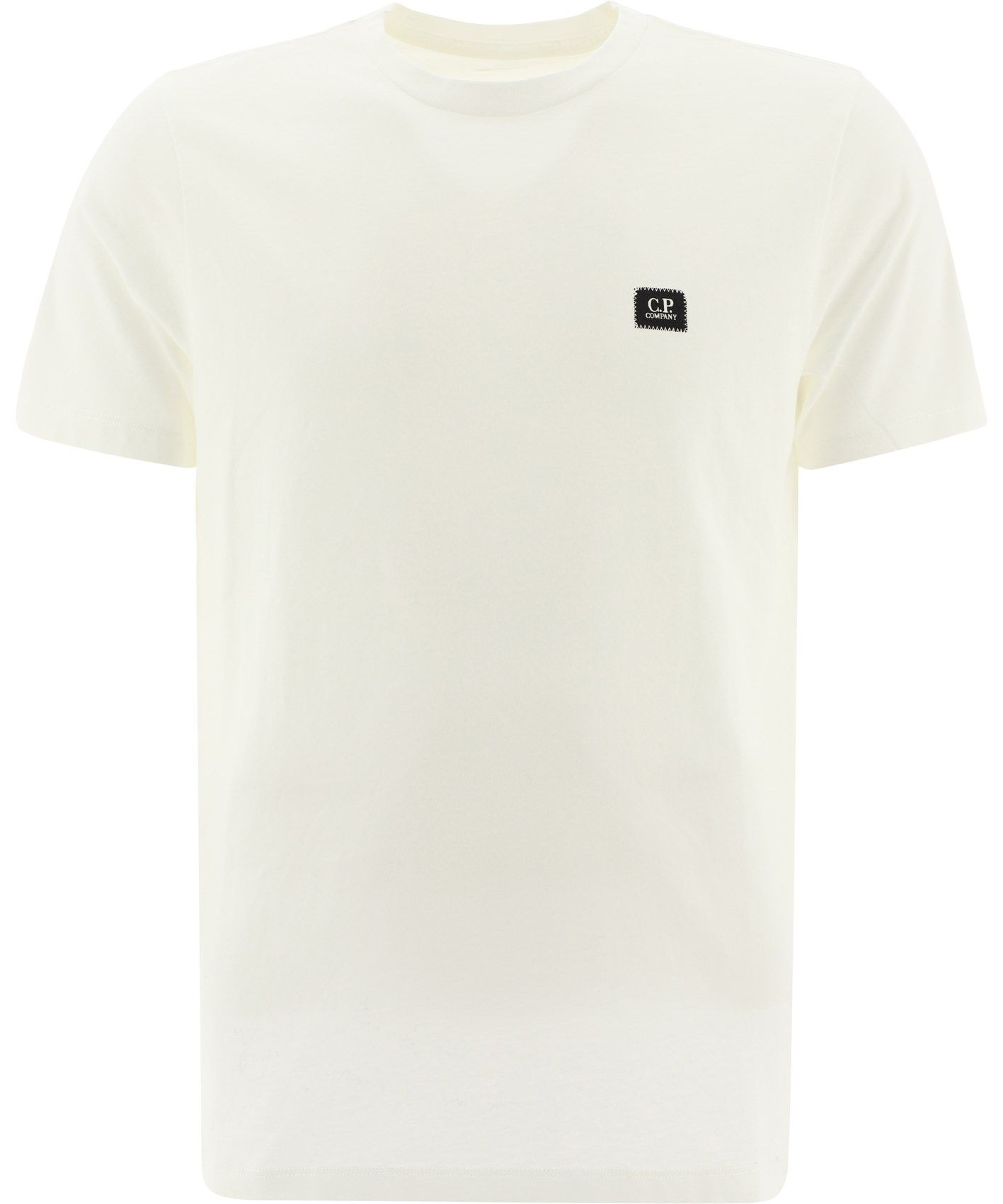 C.p. Company T-shirts CP COMPANY MEN'S 09CMTS026A005100W103 WHITE OTHER MATERIALS T-SHIRT