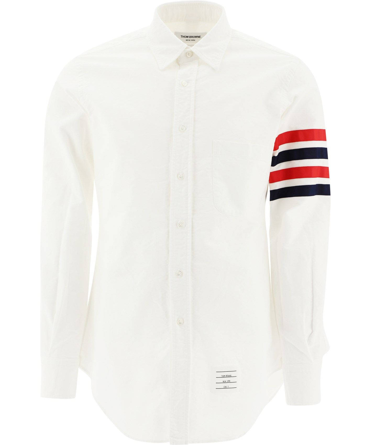 Thom Browne Shirts THOM BROWNE MEN'S MWL319A06177100 WHITE OTHER MATERIALS SHIRT