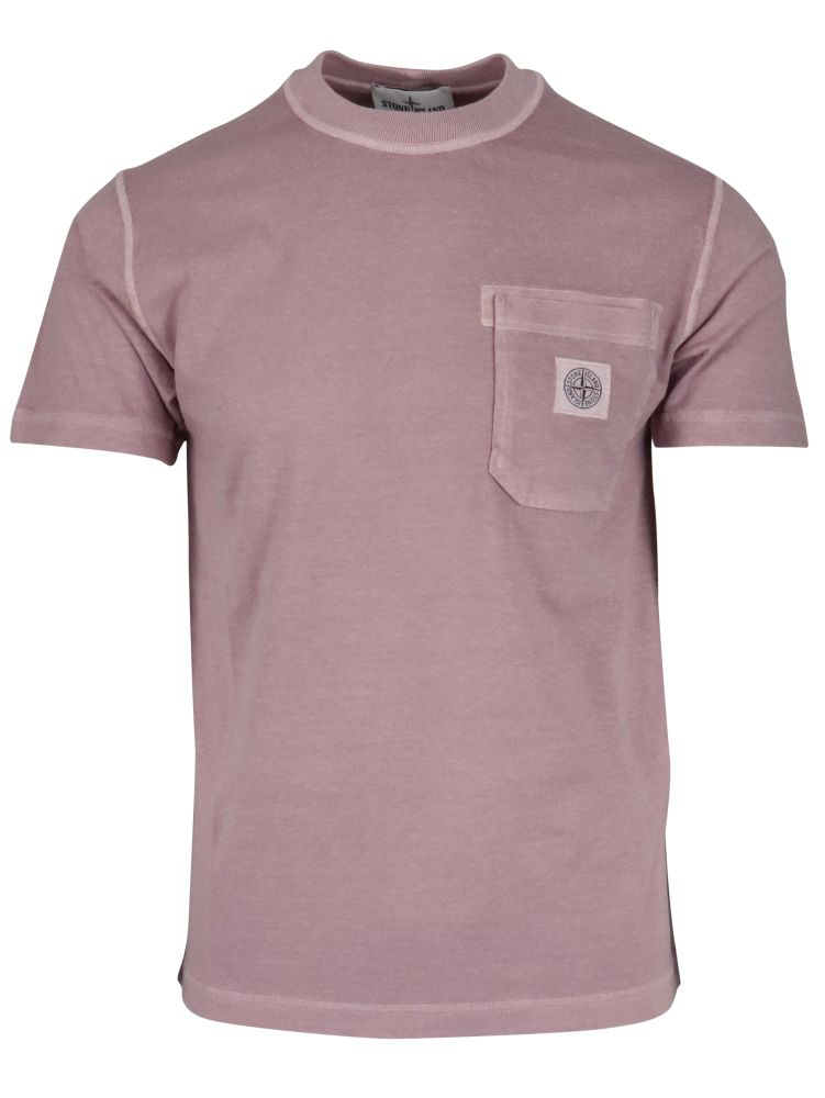 Stone Island STONE ISLAND MEN'S 741521957V0186 PINK OTHER MATERIALS T-SHIRT