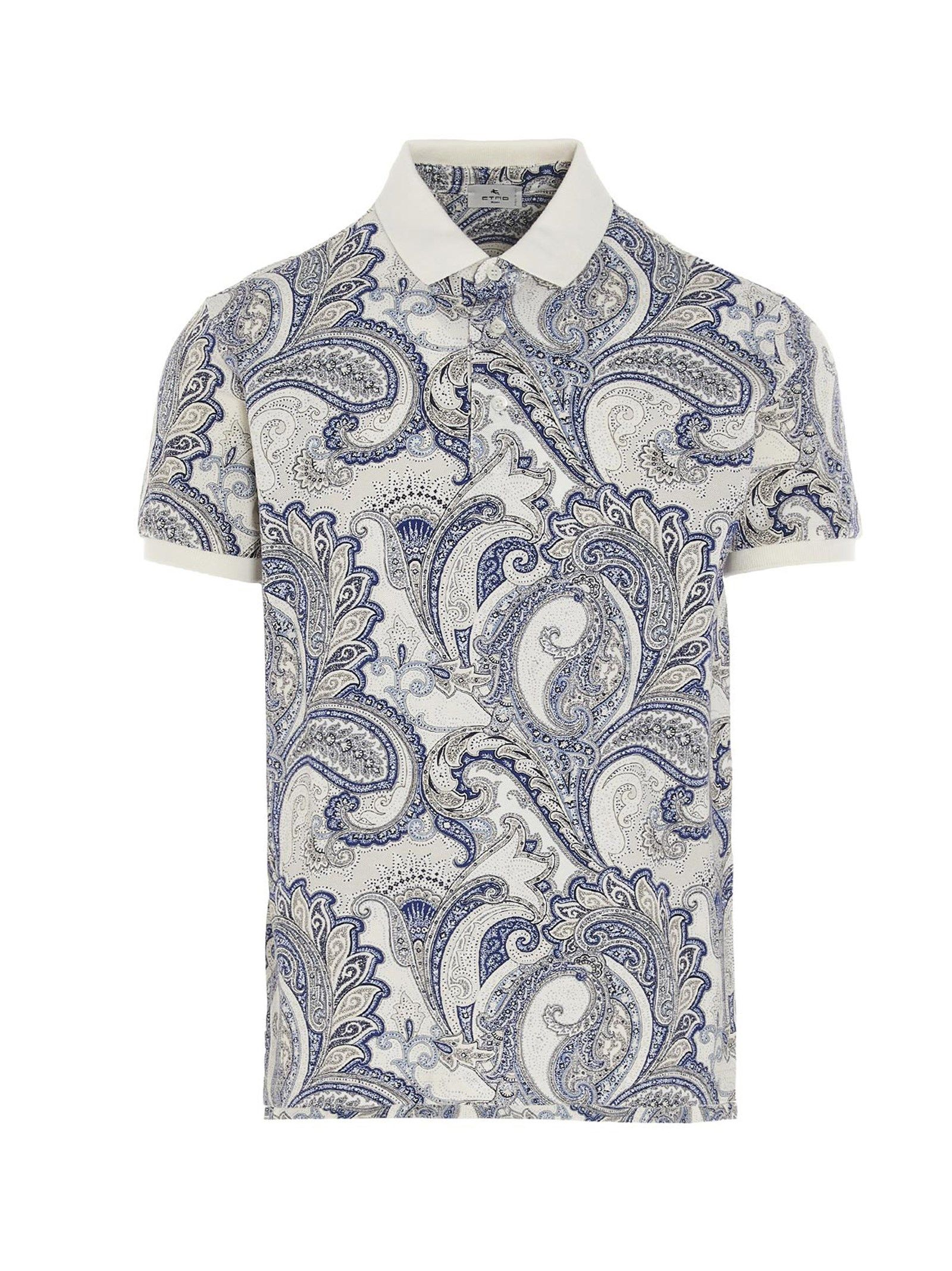 Etro Cottons ETRO MEN'S 1Y8004080251 WHITE OTHER MATERIALS POLO SHIRT