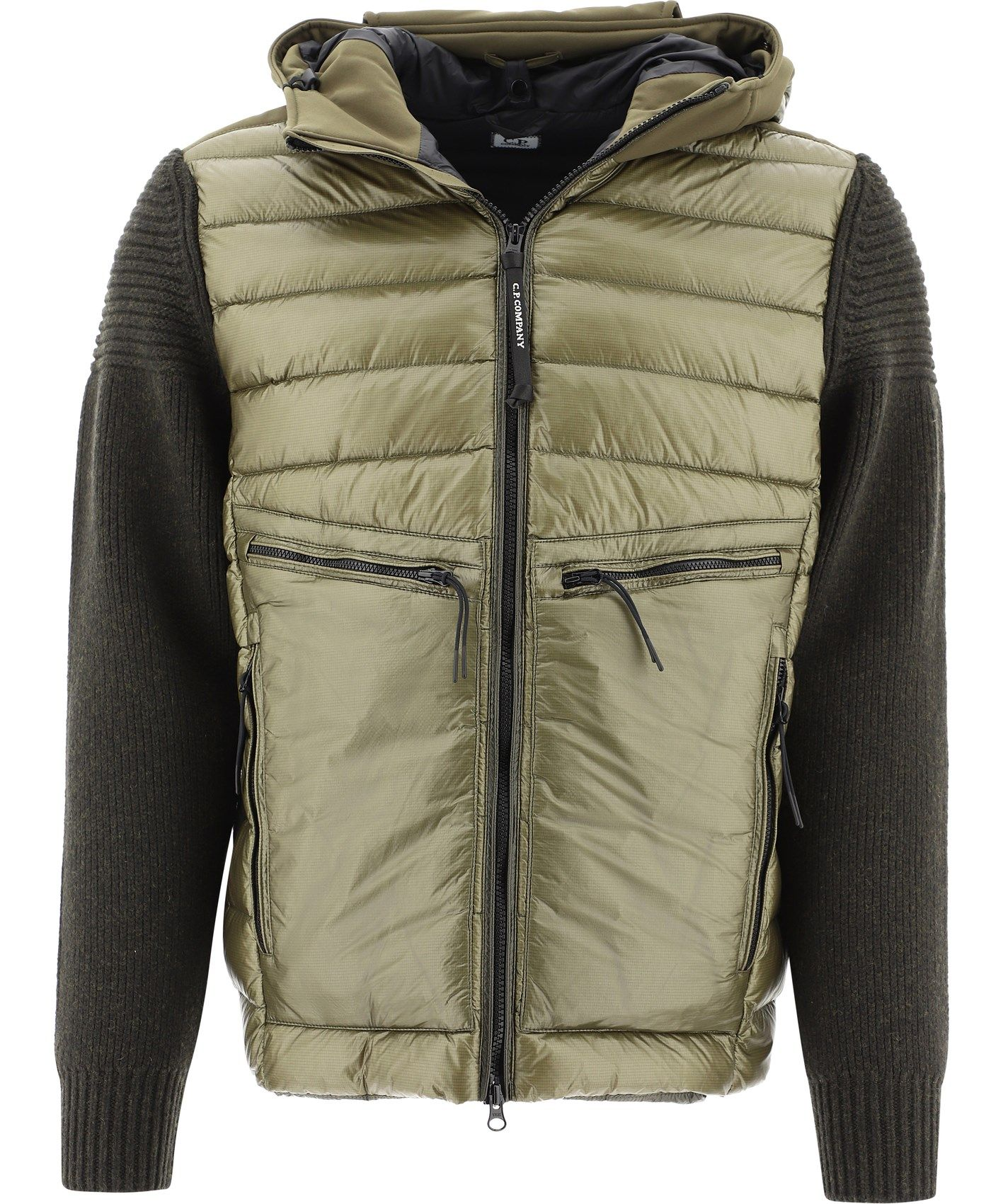 C.p. Company Jackets CP COMPANY MEN'S 09CMKN174A004306M661 GREEN WOOL OUTERWEAR JACKET