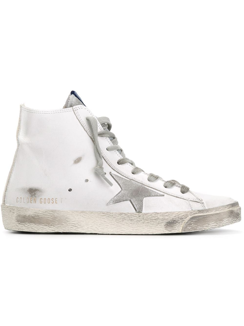 Golden Goose High tops GOLDEN GOOSE WOMEN'S GWF00113F00031910274 WHITE LEATHER HI TOP SNEAKERS