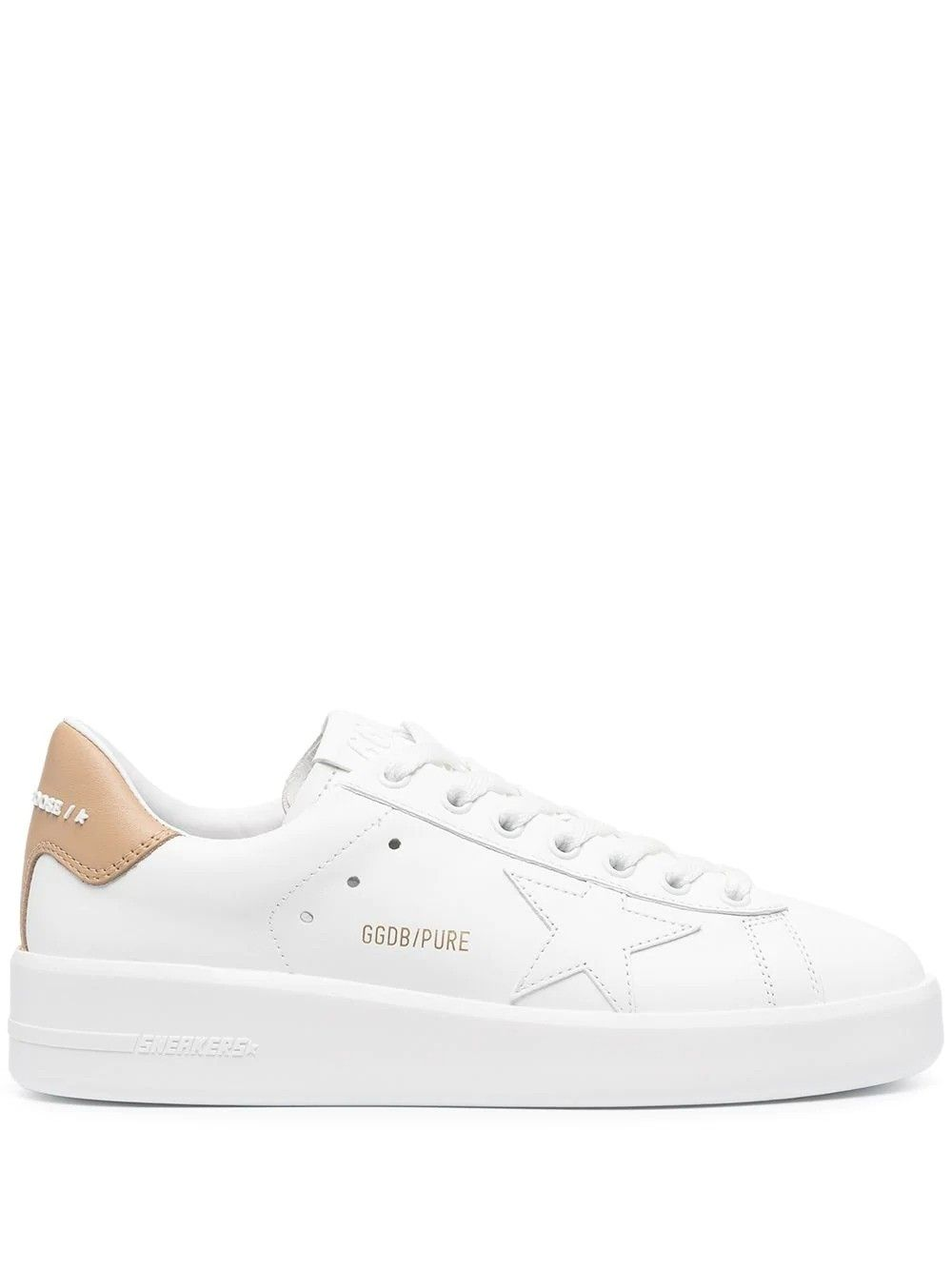 Golden Goose Leathers GOLDEN GOOSE WOMEN'S GWF00197F00112610318 WHITE LEATHER SNEAKERS