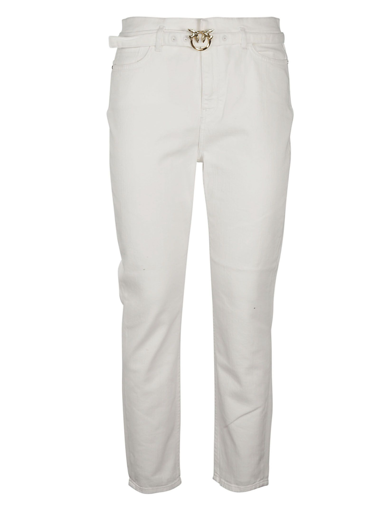 Pinko Cottons PINKO WOMEN'S 1J10KNY62NZ08 WHITE OTHER MATERIALS JEANS