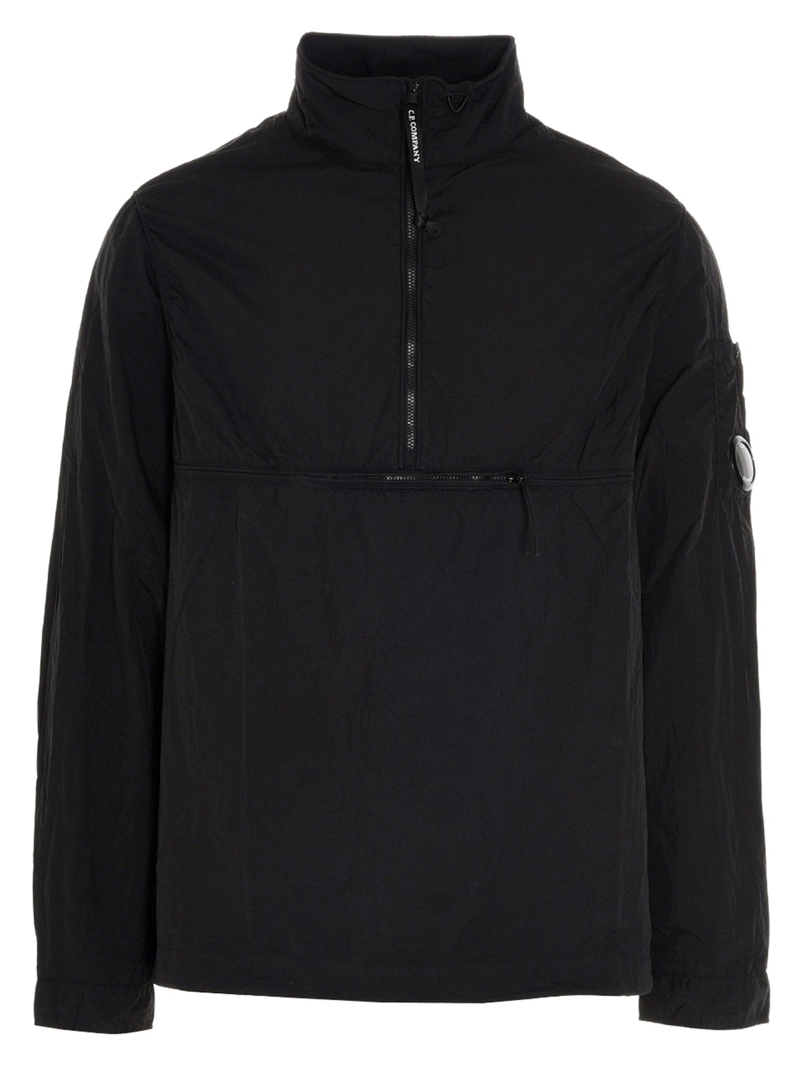 C.p. Company Jackets CP COMPANY MEN'S 10CMSH178A005665G999 BLACK OTHER MATERIALS OUTERWEAR JACKET