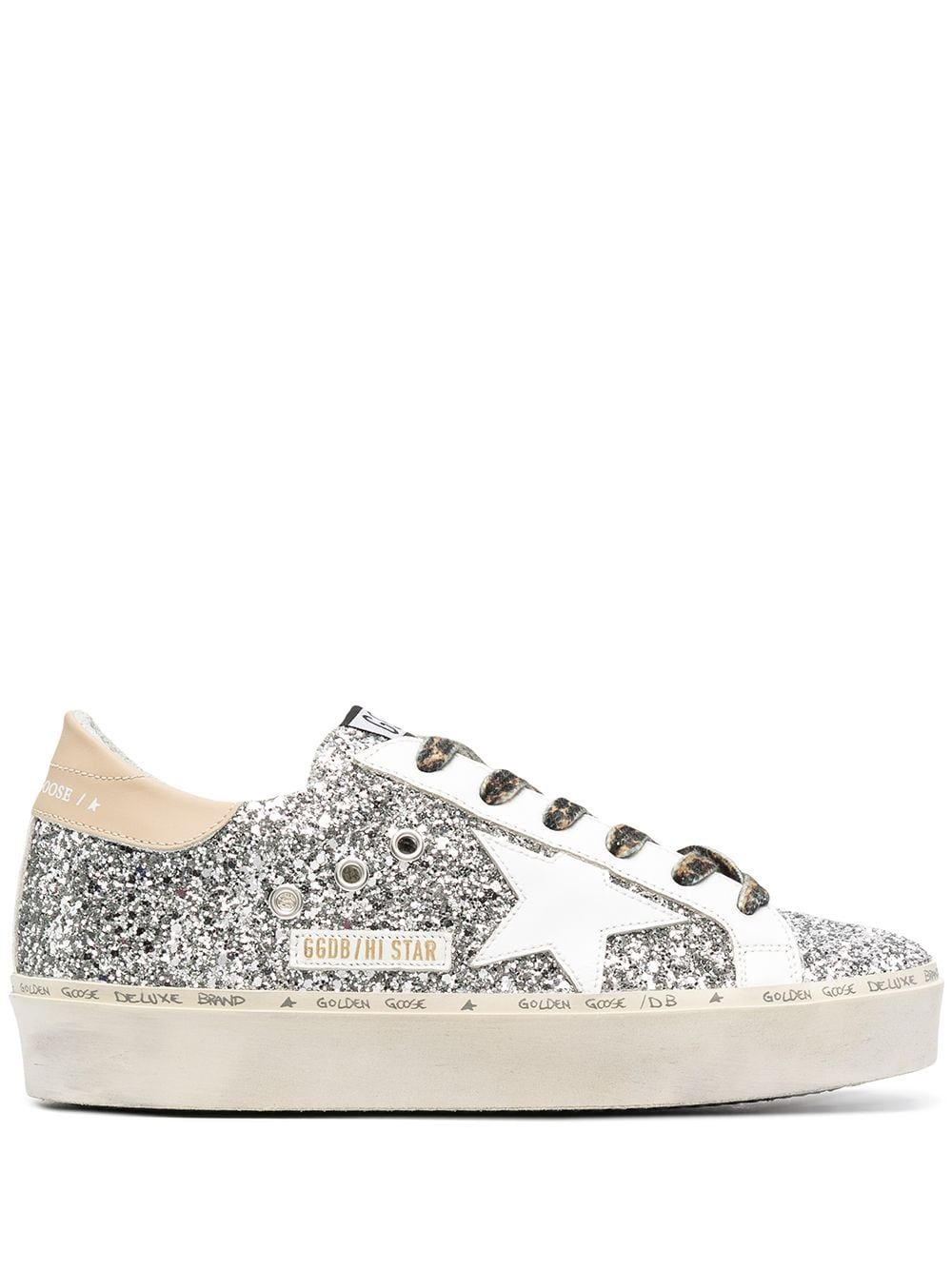 Golden Goose Sneakers GOLDEN GOOSE WOMEN'S GWF00118F00073480575 SILVER LEATHER SNEAKERS