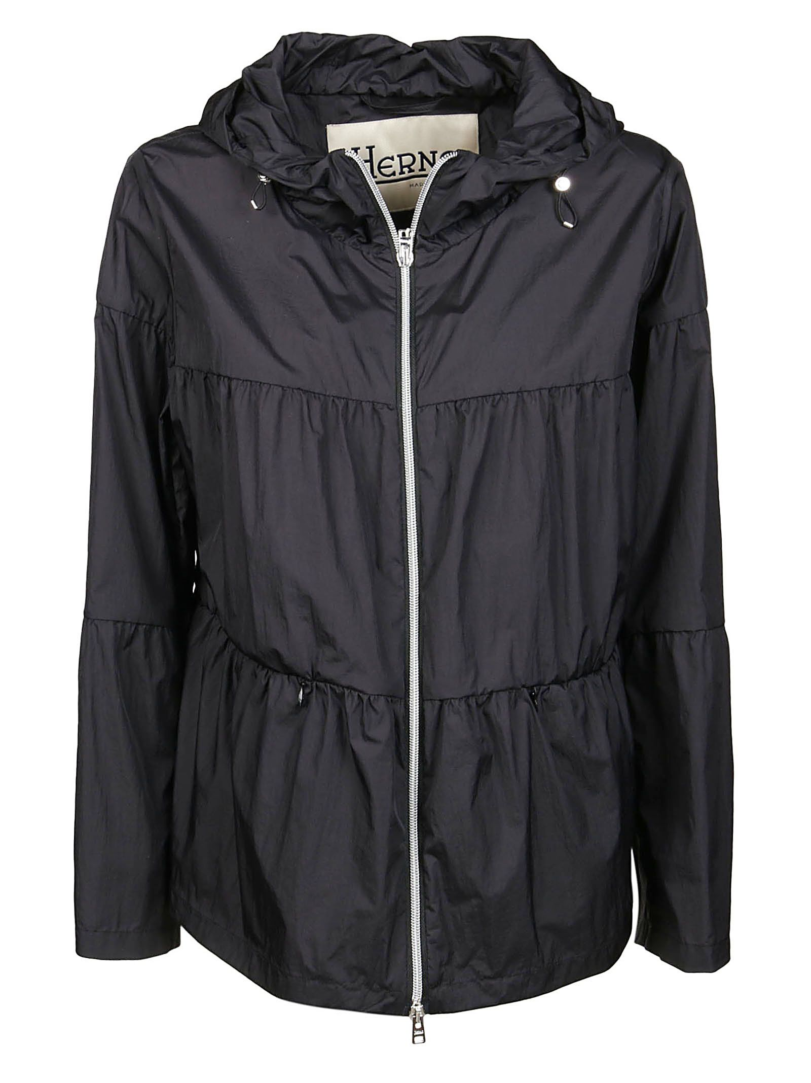 Herno Jackets HERNO WOMEN'S GI0127D123149300 BLACK OTHER MATERIALS OUTERWEAR JACKET