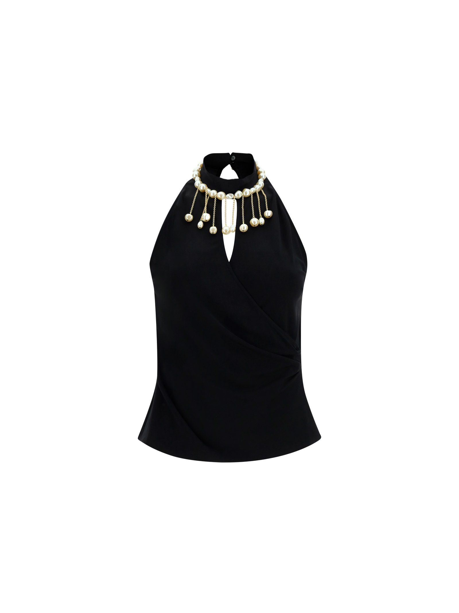 Pinko Blouses PINKO WOMEN'S 1G15VKY6X3Z99 BLACK OTHER MATERIALS TOP
